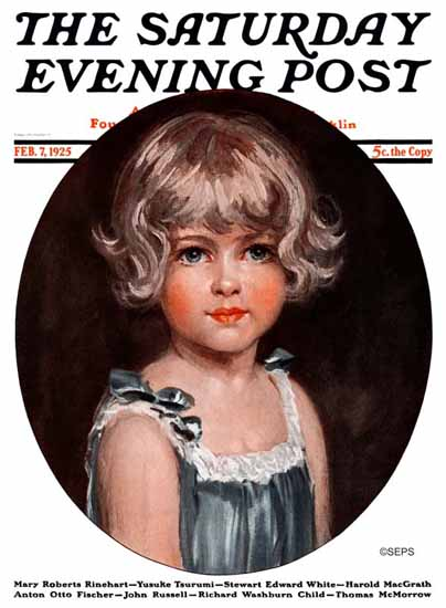 Roaring 1920s Arthur Garratt Artist Saturday Evening Post 1925_02_07 | Roaring 1920s Ad Art and Magazine Cover Art