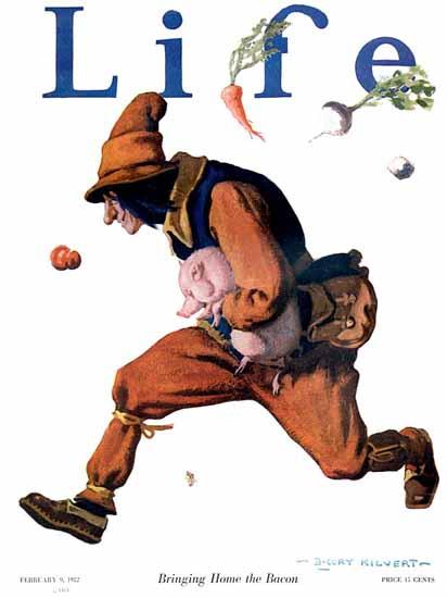Roaring 1920s B Cory Kilvert Life Humor Magazine 1922-02-09 Copyright | Roaring 1920s Ad Art and Magazine Cover Art