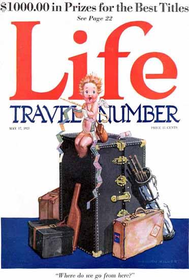 Roaring 1920s B Cory Kilvert Life Humor Magazine 1923-05-17 Copyright | Roaring 1920s Ad Art and Magazine Cover Art