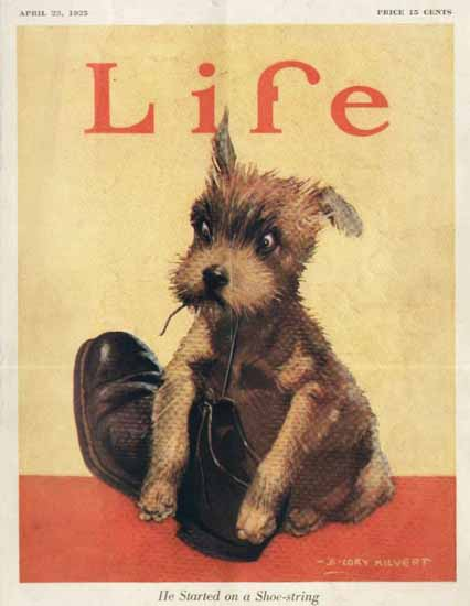 Roaring 1920s B Cory Kilvert Life Shoe-String 1925-04-23 Copyright | Roaring 1920s Ad Art and Magazine Cover Art
