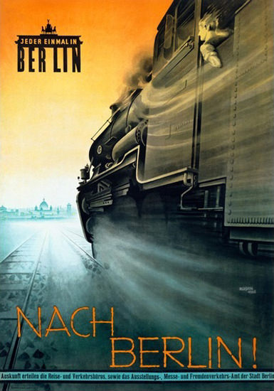 Roaring 1920s Berlin Jeder Einmal In Berlin 1926 Fritz Rosen | Roaring 1920s Ad Art and Magazine Cover Art