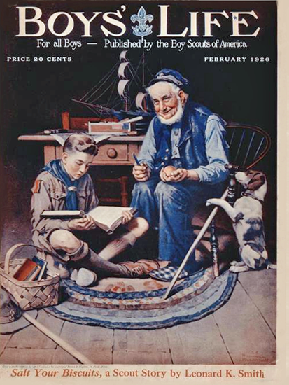 Roaring 1920s Boys Life February 1926 Norman Rockwell | Roaring 1920s Ad Art and Magazine Cover Art