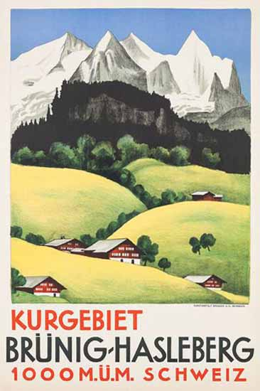 Roaring 1920s Brünig Hasleberg Kurgebiet Schweiz Switzerland 1926 | Roaring 1920s Ad Art and Magazine Cover Art