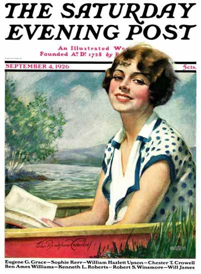 Roaring 1920s Bradshaw Crandell Artist Saturday Evening Post 1926_09_04   Roaring 1920s Ad Art and Magazine Cover Art