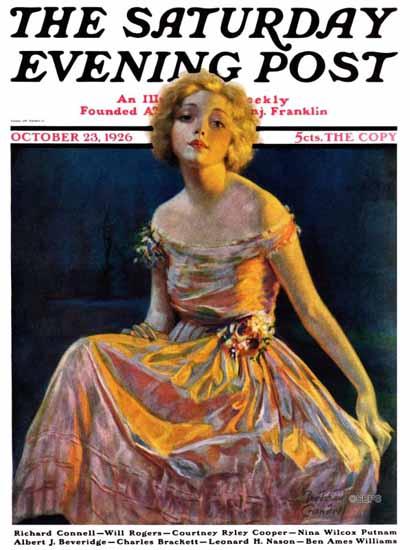 Roaring 1920s Bradshaw Crandell Artist Saturday Evening Post 1926_10_23   Roaring 1920s Ad Art and Magazine Cover Art