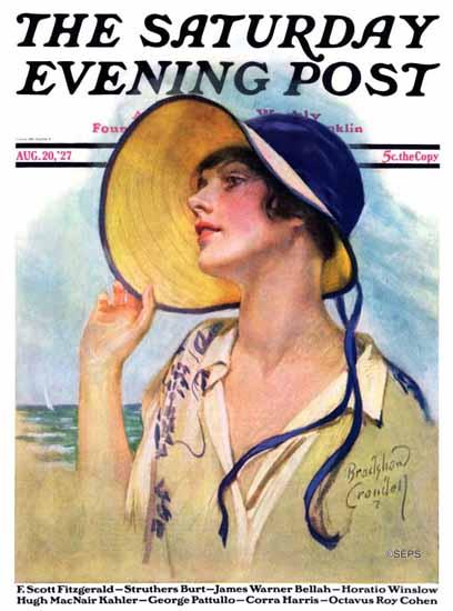 Roaring 1920s Bradshaw Crandell Saturday Evening Post 1927_08_20 | Roaring 1920s Ad Art and Magazine Cover Art