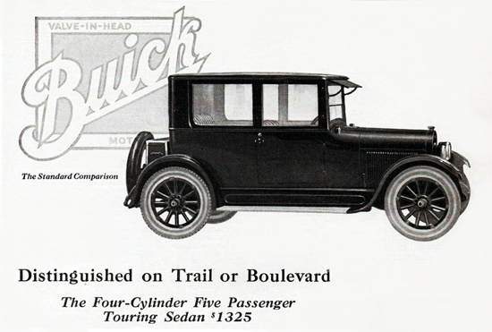 Roaring 1920s Buick Five P Touring Sedan 4 Cylinder 1923 | Roaring 1920s Ad Art and Magazine Cover Art
