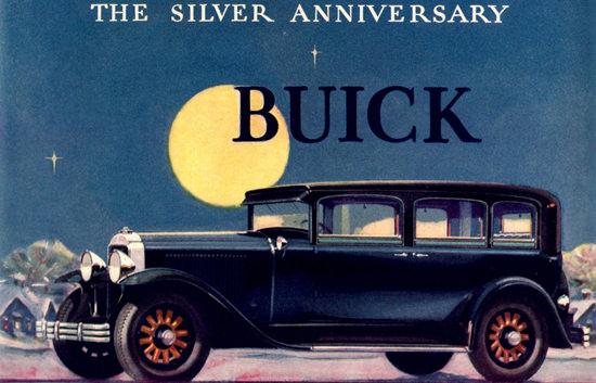Roaring 1920s Buick Model 29-57 4 Door Sedan 1929 | Roaring 1920s Ad Art and Magazine Cover Art