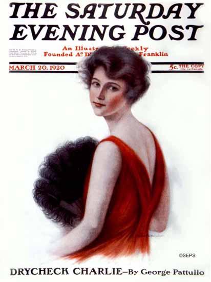 Roaring 1920s C Warde Traver Saturday Evening Post 1920_03_20 | Roaring 1920s Ad Art and Magazine Cover Art