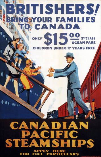 Roaring 1920s Canadian Pacific Bring Your Family Canada 1929 | Roaring 1920s Ad Art and Magazine Cover Art