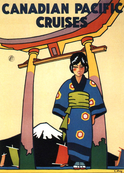 Roaring 1920s Canadian Pacific Cruises Japan 1929 E Erny | Roaring 1920s Ad Art and Magazine Cover Art