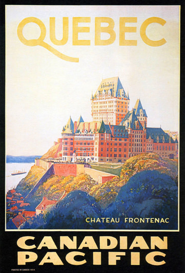 Roaring 1920s Canadian Pacific Hotel Chateau Frontenac 1924 | Roaring 1920s Ad Art and Magazine Cover Art
