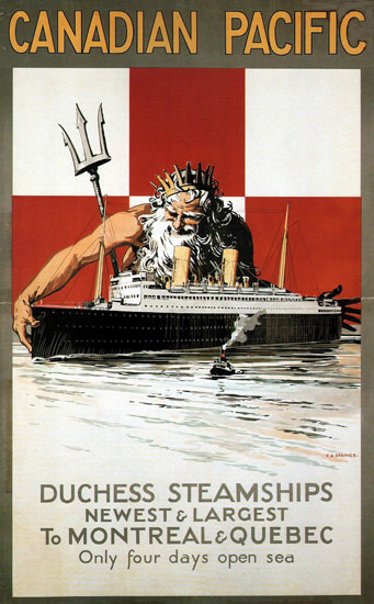 Roaring 1920s Canadian Pacific Steamships Montreal 1929 | Roaring 1920s Ad Art and Magazine Cover Art