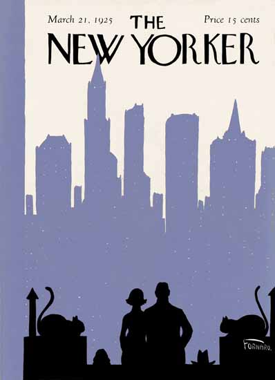 Roaring 1920s Carl Fornaro The New Yorker 1925_03_21 Copyright | Roaring 1920s Ad Art and Magazine Cover Art