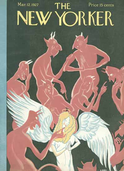 Roaring 1920s Carl Rose The New Yorker 1927_03_12 Copyright | Roaring 1920s Ad Art and Magazine Cover Art