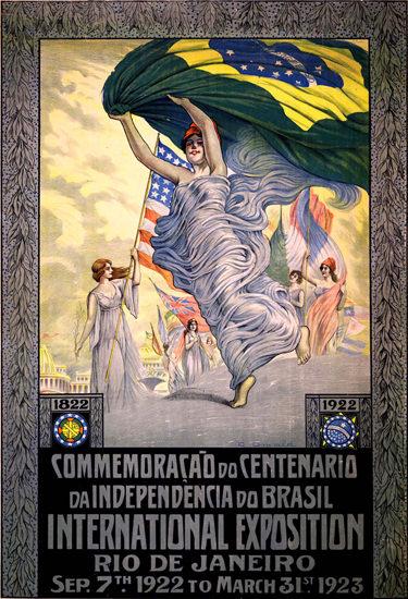 Roaring 1920s Centenario Da Independencia Do Brasil 1922 Rio | Roaring 1920s Ad Art and Magazine Cover Art
