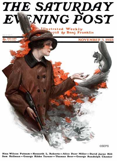 Roaring 1920s Charles A MacLellan Saturday Eve Post Hunt 1923_11_03 | Roaring 1920s Ad Art and Magazine Cover Art