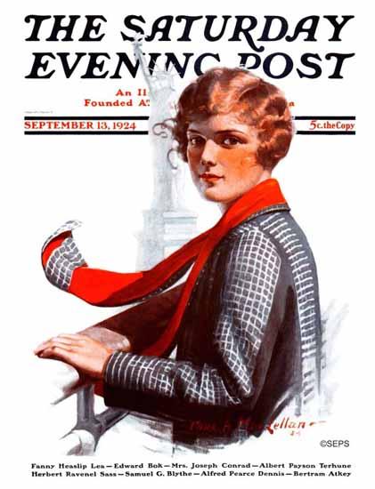Roaring 1920s Charles A MacLellan Saturday Eve Post Liberty 1924_09_13   Roaring 1920s Ad Art and Magazine Cover Art