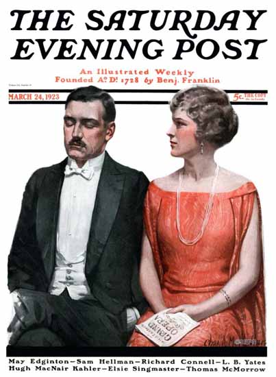 Roaring 1920s Charles A MacLellan Saturday Evening Post 1923_03_24 | Roaring 1920s Ad Art and Magazine Cover Art