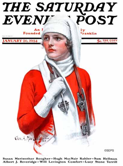 Roaring 1920s Charles A MacLellan Saturday Evening Post 1924_01_26   Roaring 1920s Ad Art and Magazine Cover Art