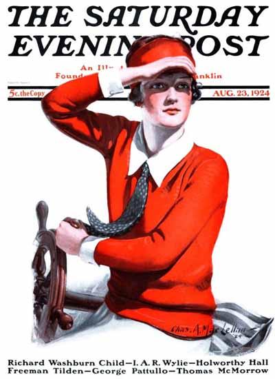 Roaring 1920s Charles A MacLellan Saturday Evening Post 1924_08_23 | Roaring 1920s Ad Art and Magazine Cover Art