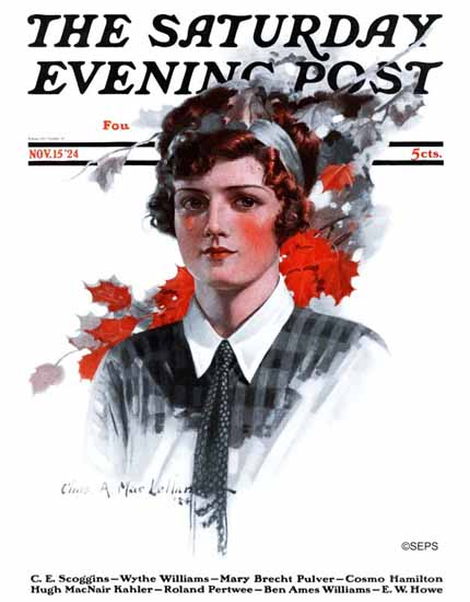 Roaring 1920s Charles A MacLellan Saturday Evening Post 1924_11_15 | Roaring 1920s Ad Art and Magazine Cover Art