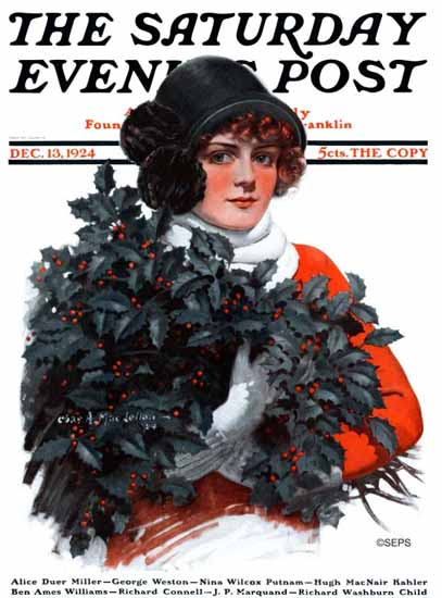 Roaring 1920s Charles A MacLellan Saturday Evening Post 1924_12_13 | Roaring 1920s Ad Art and Magazine Cover Art