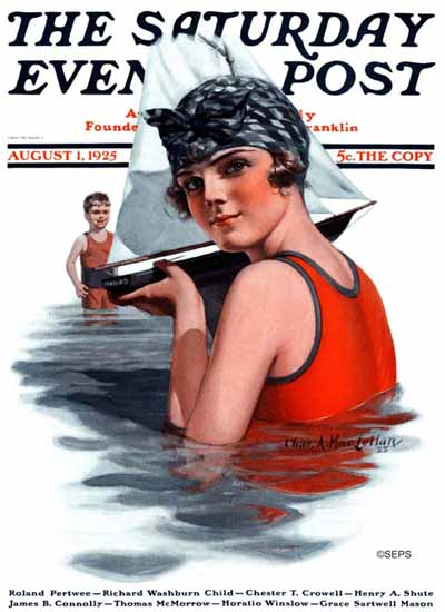 Roaring 1920s Charles A MacLellan Saturday Evening Post 1925_08_01 | Roaring 1920s Ad Art and Magazine Cover Art