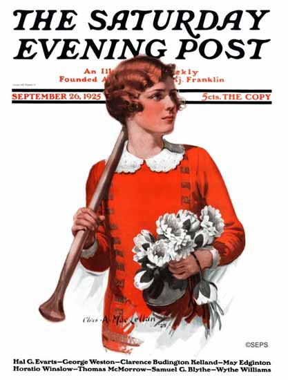 Roaring 1920s Charles A MacLellan Saturday Evening Post 1925_09_26 | Roaring 1920s Ad Art and Magazine Cover Art
