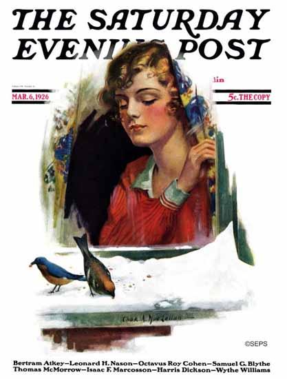 Roaring 1920s Charles A MacLellan Saturday Evening Post 1926_03_06   Roaring 1920s Ad Art and Magazine Cover Art