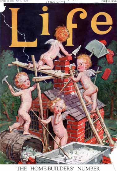 Roaring 1920s Charles Dana Gibson Life Magazine 1923-04-12 Copyright   Roaring 1920s Ad Art and Magazine Cover Art