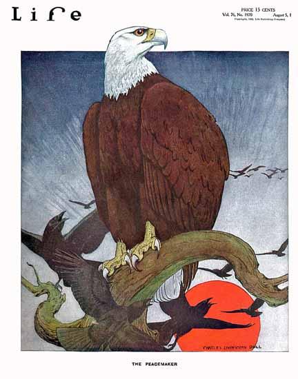 Roaring 1920s Charles Livingston Bull Life 1920-08-05 Copyright | Roaring 1920s Ad Art and Magazine Cover Art