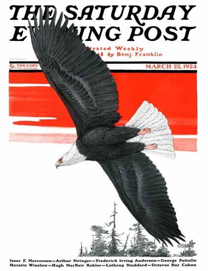 Roaring 1920s Charles Livingston Bull Saturday Evening Post 1924_03_22   Roaring 1920s Ad Art and Magazine Cover Art
