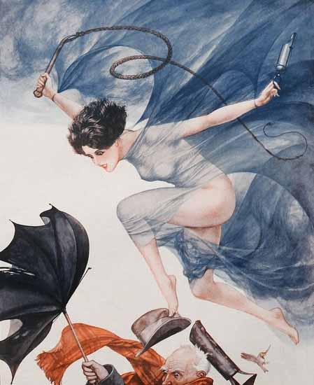 Roaring 1920s Cheri Herouard La Vie Parisienne 1926 Bourrasque page | Roaring 1920s Ad Art and Magazine Cover Art