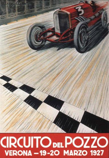 Roaring 1920s Circuito Del Pozzo Verona 1927 Italy Italia   Roaring 1920s Ad Art and Magazine Cover Art