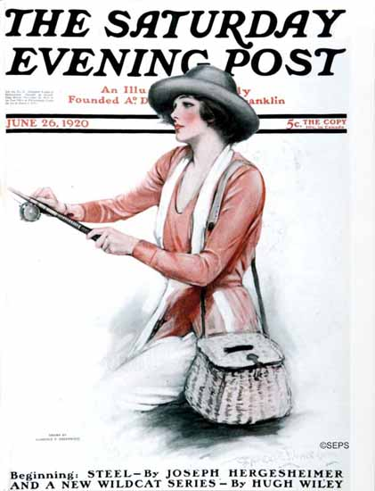 Roaring 1920s Clarence F Underwood Saturday Evening Post 1920_06_26 | Roaring 1920s Ad Art and Magazine Cover Art