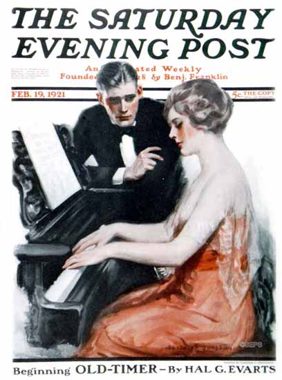 Roaring 1920s Clarence F Underwood Saturday Evening Post 1921_02_19 | Roaring 1920s Ad Art and Magazine Cover Art