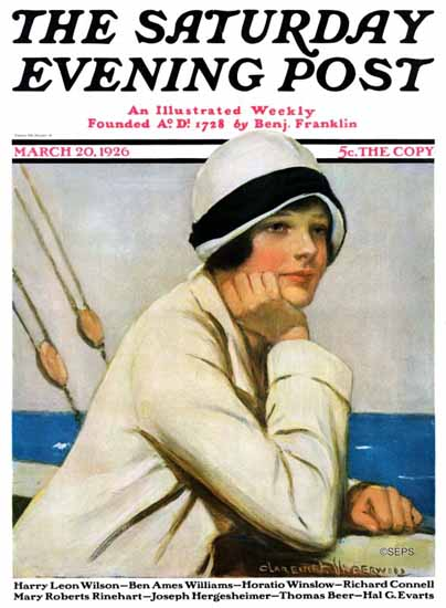 Roaring 1920s Clarence F Underwood Saturday Evening Post 1926_03_20   Roaring 1920s Ad Art and Magazine Cover Art