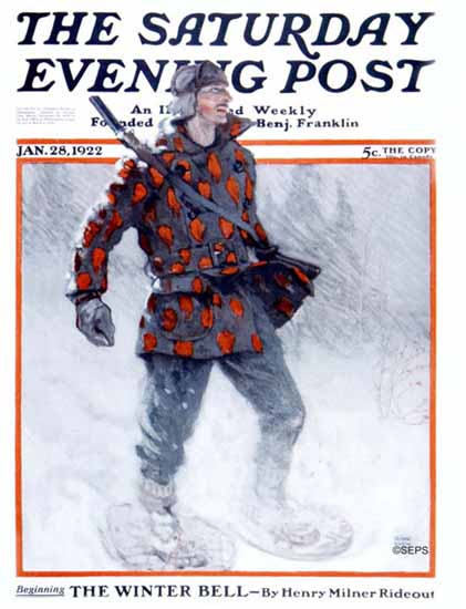 Roaring 1920s Clark Fay Saturday Evening Post Cover Art 1922_01_28 | Roaring 1920s Ad Art and Magazine Cover Art