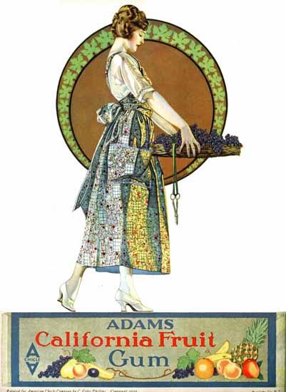 Roaring 1920s Coles Phillips Adams California Fruit Gum 1920 | Roaring 1920s Ad Art and Magazine Cover Art