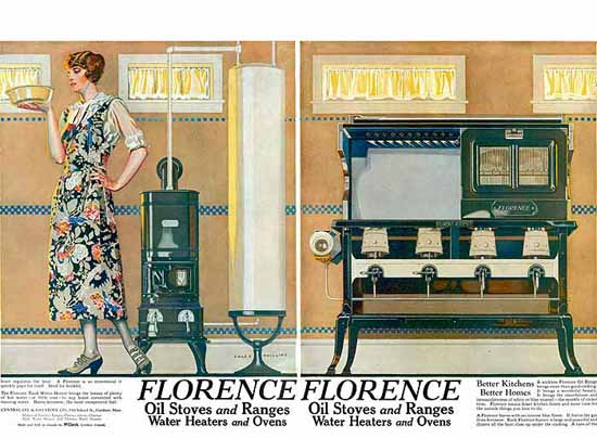 Roaring 1920s Coles Phillips Florence Oil Stoves and Ranges 1923   Roaring 1920s Ad Art and Magazine Cover Art