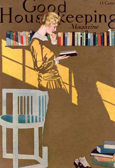 Roaring 1920s Coles Phillips Good Housekeeping 1915 Copyright   Roaring 1920s Ad Art and Magazine Cover Art