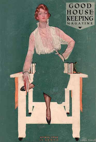 Roaring 1920s Coles Phillips Good Housekeeping April 1916 Copyright | Roaring 1920s Ad Art and Magazine Cover Art