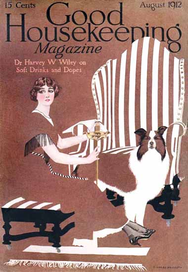 Roaring 1920s Coles Phillips Good Housekeeping August 1912 Copyright | Roaring 1920s Ad Art and Magazine Cover Art
