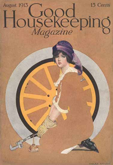 Roaring 1920s Coles Phillips Good Housekeeping August 1913 Copyright | Roaring 1920s Ad Art and Magazine Cover Art