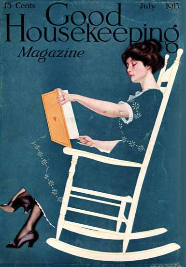 Roaring 1920s Coles Phillips Good Housekeeping July 1913 Copyright | Roaring 1920s Ad Art and Magazine Cover Art