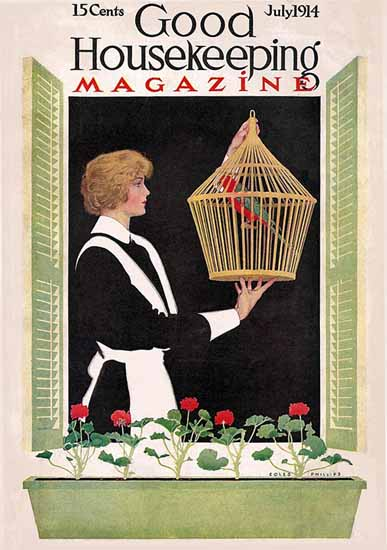 Roaring 1920s Coles Phillips Good Housekeeping July 1914 Copyright | Roaring 1920s Ad Art and Magazine Cover Art