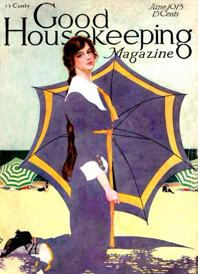 Roaring 1920s Coles Phillips Good Housekeeping June 1915 Copyright | Roaring 1920s Ad Art and Magazine Cover Art