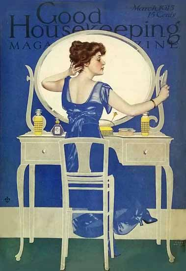 Roaring 1920s Coles Phillips Good Housekeeping March 1915 Copyright | Roaring 1920s Ad Art and Magazine Cover Art