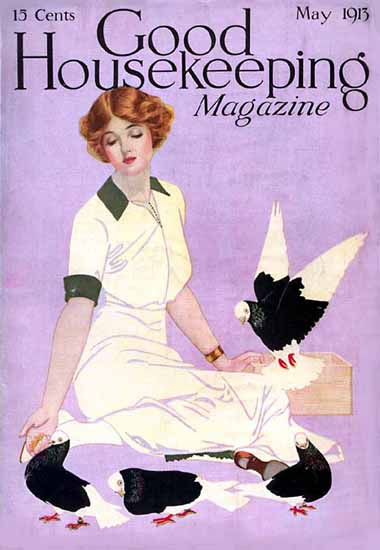 Roaring 1920s Coles Phillips Good Housekeeping May 1913 Copyright | Roaring 1920s Ad Art and Magazine Cover Art